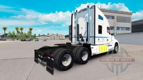 Haut Transport Quebec auf Kenworth-Zugmaschine für American Truck Simulator