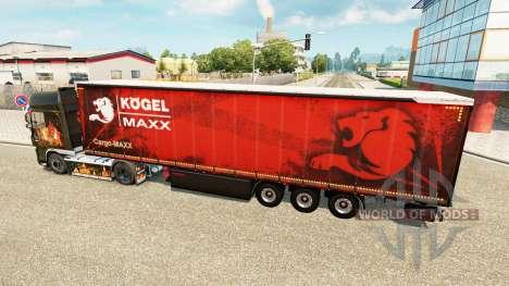 Vorhang semi-trailer Kogel maxx für Euro Truck Simulator 2