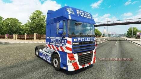 La Police de la peau pour DAF camion pour Euro Truck Simulator 2