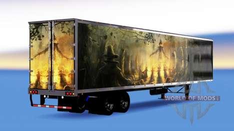 All-Metall-Auflieger mit Kürbis für American Truck Simulator