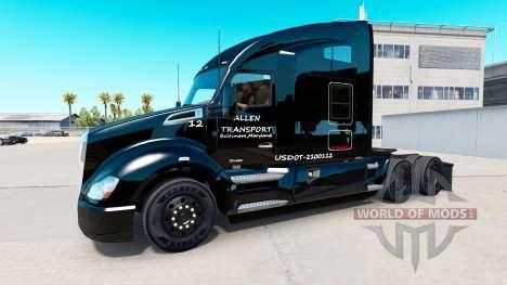 Allen Transport-skin für die Kenworth-Zugmaschin für American Truck Simulator