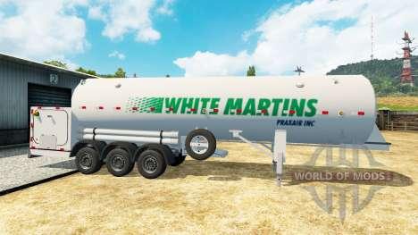 Die Auflieger-tank-White Martins für Euro Truck Simulator 2