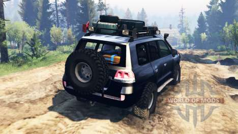 Toyota Land Cruiser 200 2008 v2.0 pour Spin Tires
