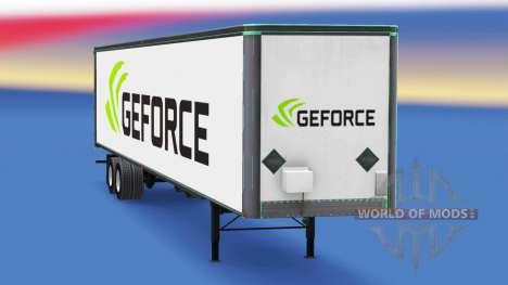 Haut Nvidia GeForce auf dem Anhänger für American Truck Simulator