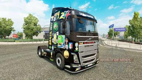 Brasil 2014 de la peau pour Volvo camion pour Euro Truck Simulator 2