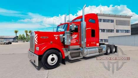 Heartland Express de la peau [rouge] camion Kenw pour American Truck Simulator