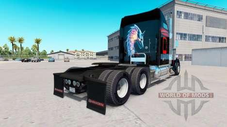 Skin Bitdefender tractor Kenworth W900 für American Truck Simulator