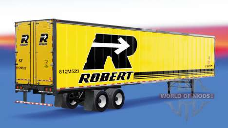 Canadienne des peaux sur la remorque pour American Truck Simulator