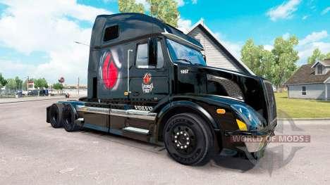 Venom Energy skin für Volvo-LKW-VNL 670 für American Truck Simulator