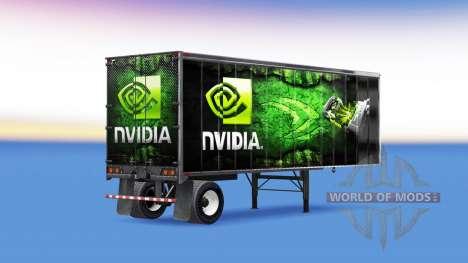 Skins ATi Radeon & Nvidia GeForce auf dem Anhäng für American Truck Simulator