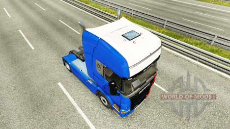 La France de la peau pour Scania camion pour Euro Truck Simulator 2