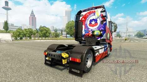 Le Chili Copa 2014 de la peau pour Iveco tracteu pour Euro Truck Simulator 2
