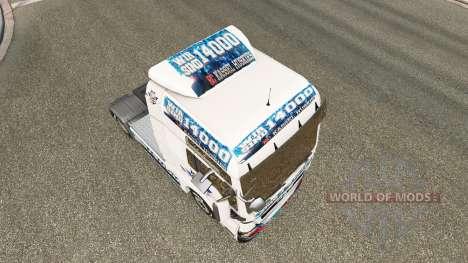 La peau de CE Kassel Huskies sur tracteur HOMME pour Euro Truck Simulator 2