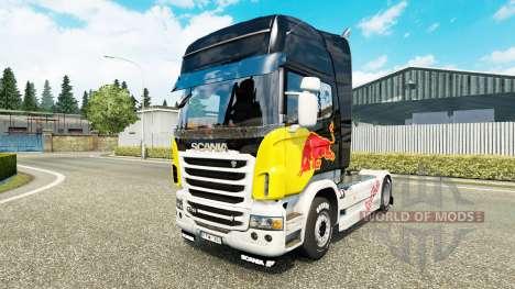 Red Bull de la peau pour Scania camion pour Euro Truck Simulator 2