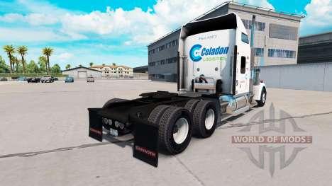 Haut Celadon-Logistik auf LKW-Kenworth W900 für American Truck Simulator