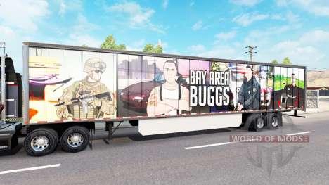Haut Bay Area Buggs auf dem Anhänger für American Truck Simulator