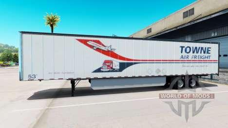 Haut Towne Air Freight, die auf dem Anhänger für American Truck Simulator