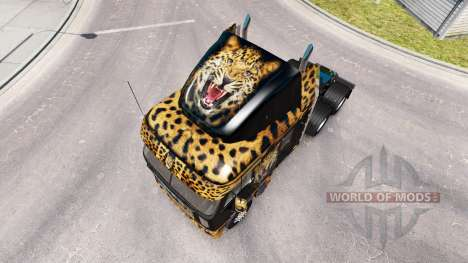 Haut Jaguar auf dem LKW Freightliner Argosy für American Truck Simulator