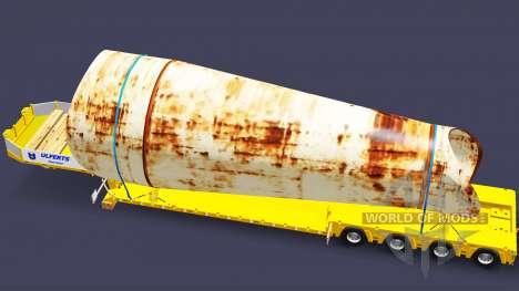 Tiefbett Schleppnetz-Puppe mit Ladung für Euro Truck Simulator 2