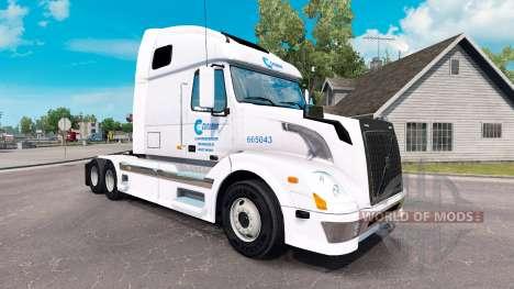 Céladon de la peau pour les camions Volvo VNL 67 pour American Truck Simulator