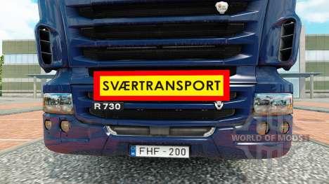 Svaertransport für Euro Truck Simulator 2