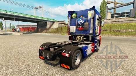 La peau de la France Copa 2014 sur un tracteur R pour Euro Truck Simulator 2