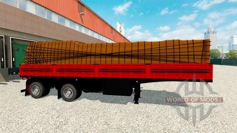 Flachbett-Auflieger mit Ladung für Euro Truck Simulator 2