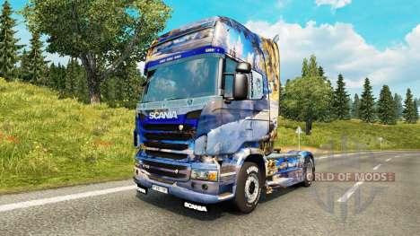 De la peau en hiver pour Scania camion pour Euro Truck Simulator 2