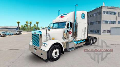 Haut FTI Transport auf Sattelzugmaschine Freight für American Truck Simulator