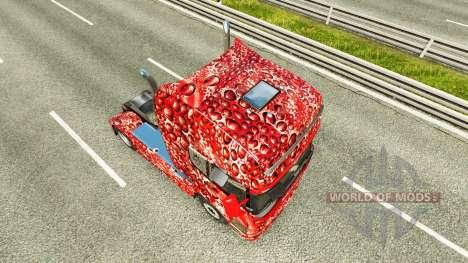 Haut Coca-Cola-Bläschen an der Zugmaschine Scani für Euro Truck Simulator 2