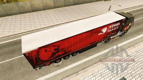 Rideau semi-remorque Kogel maxx pour Euro Truck Simulator 2