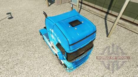 La peau Klanatranas sur tracteur Scania pour Euro Truck Simulator 2
