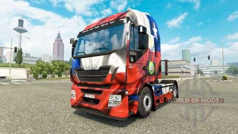 Die Chile-Copa 2014-skin für Iveco-Zugmaschine für Euro Truck Simulator 2