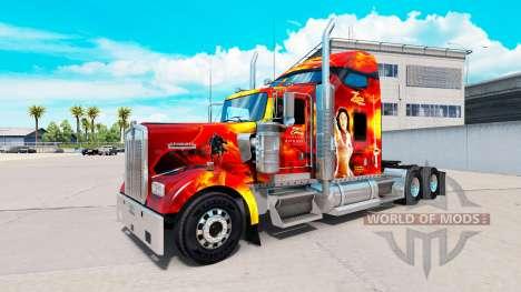 Zorro de la peau pour le Kenworth W900 tracteur pour American Truck Simulator