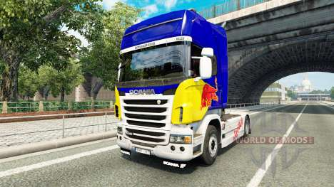 La peau de Red Bull v2.0 camion Scania pour Euro Truck Simulator 2