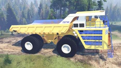 BelAZ-75710 für Spin Tires