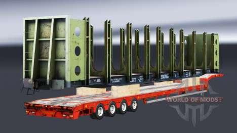 Semi-remorques avec zeleznodoroznyj la ligne v1. pour Euro Truck Simulator 2