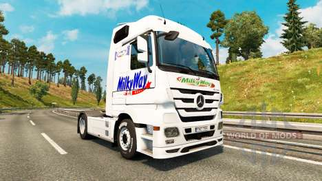 Haut Milchstraße auf dem Traktor Mercedes-Benz für Euro Truck Simulator 2