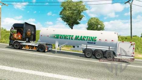 La semi-remorque-citerne Blanc Martins pour Euro Truck Simulator 2