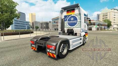 Bundeswehr skin for MAN truck für Euro Truck Simulator 2