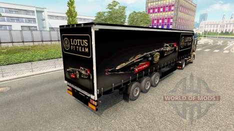 La peau Lotus F1 semi pour Euro Truck Simulator 2