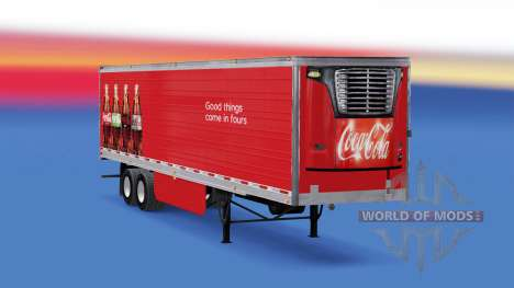 Frigorifique semi-remorque de Coca-Cola pour American Truck Simulator