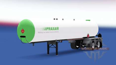 Haut Praxair Kraftstoff-semi-trailer für American Truck Simulator