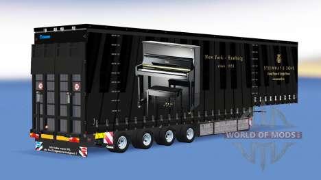 Vier-Achs-Vorhang-semi-trailer v1.1.1 für American Truck Simulator