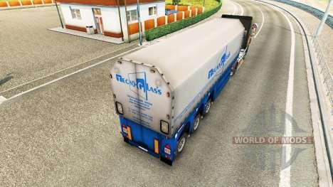 Haut Techno-Glas für halb-Steklova für Euro Truck Simulator 2