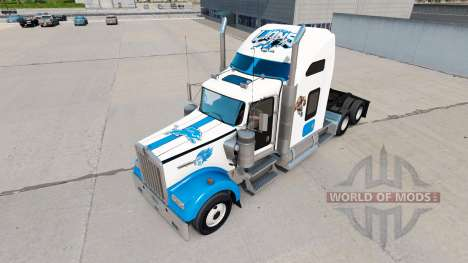 Les peaux de la NFL pour le camion Kenworth W900 pour American Truck Simulator