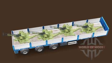 Semi Durchführung militärischer Ausrüstung v1.4. für Euro Truck Simulator 2