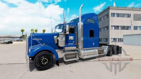 Haut YRC Fracht auf den LKW-Kenworth W900 für American Truck Simulator