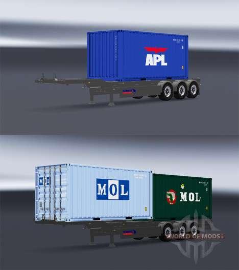 Semi-container-truck v1.1 für American Truck Simulator