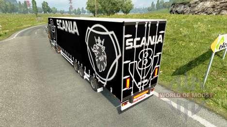 Rideau semi-remorque Scania V8 pour Euro Truck Simulator 2
